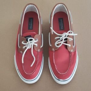 Red Sperry Top Siders